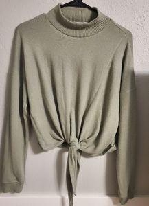Crop Turtleneck Long Sleeve Sweater
